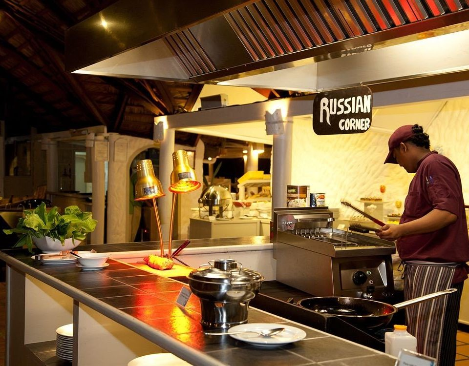 Kitchen preparing restaurant cuisine food Bar cooking pan