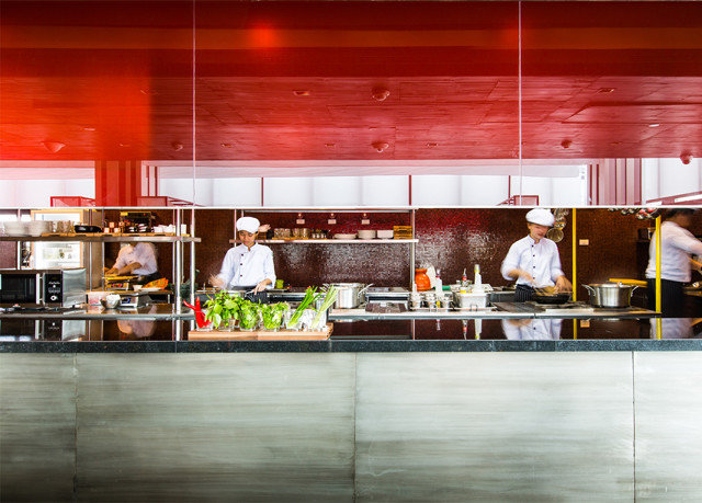 Kitchen restaurant food counter Bar retail