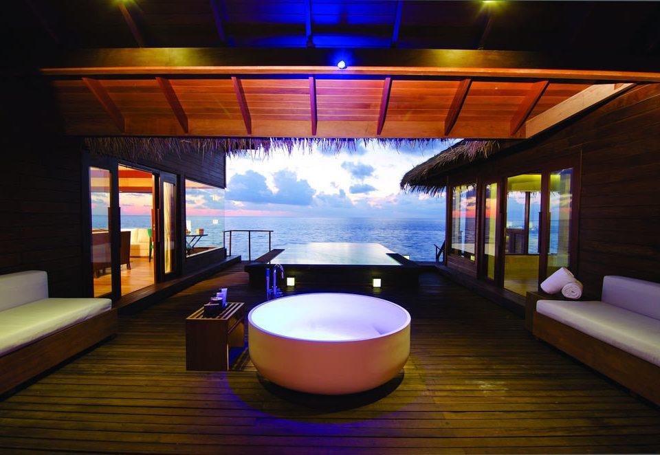 light swimming pool lighting restaurant shape Bar overlooking