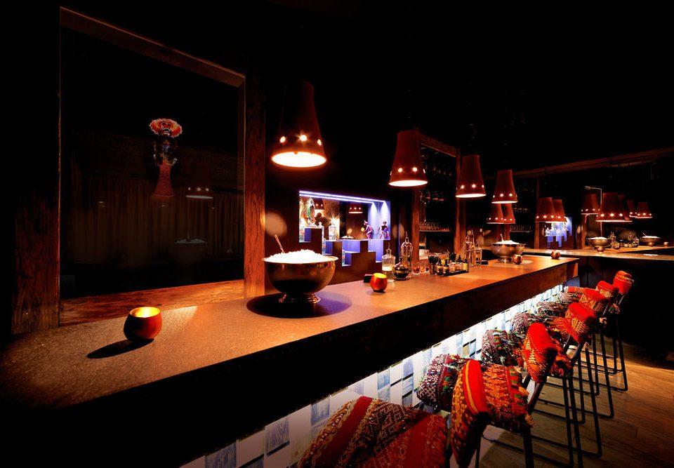 night red lighting Bar restaurant