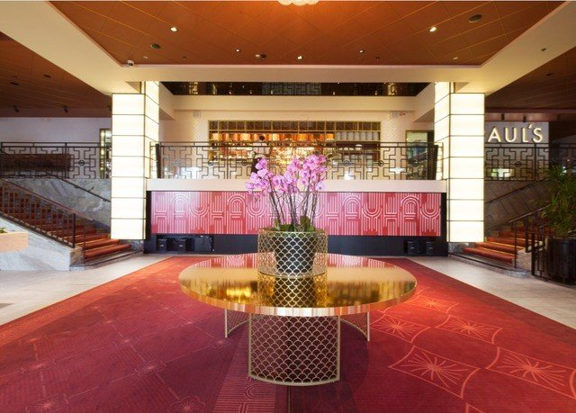 Lobby property function hall auditorium convention center flooring ballroom Bar