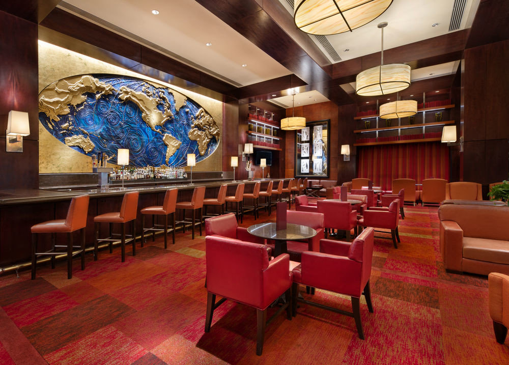 recreation room building red billiard room auditorium Lobby function hall conference hall theatre restaurant convention center Bar