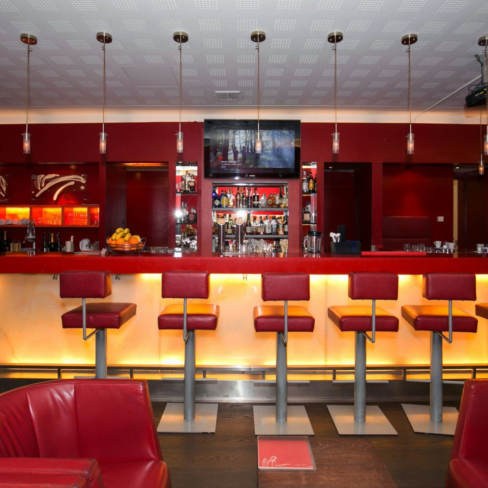 red restaurant Bar function hall auditorium Lobby theatre leather