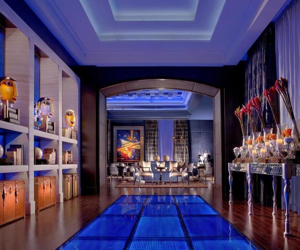 function hall Bar Lobby nightclub convention center ballroom restaurant blue colorful