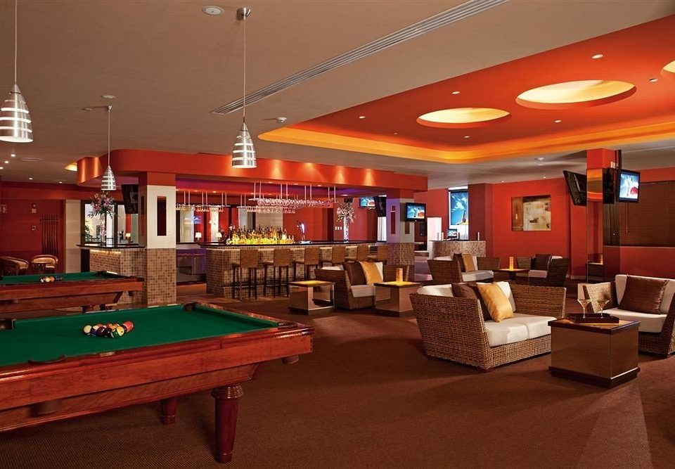 pool table poolroom recreation room billiard room scene Lobby function hall Bar gambling house