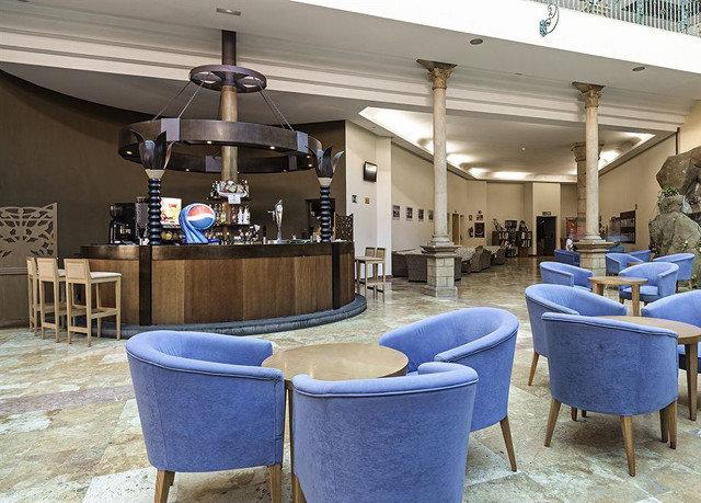 chair blue Lobby restaurant home Bar