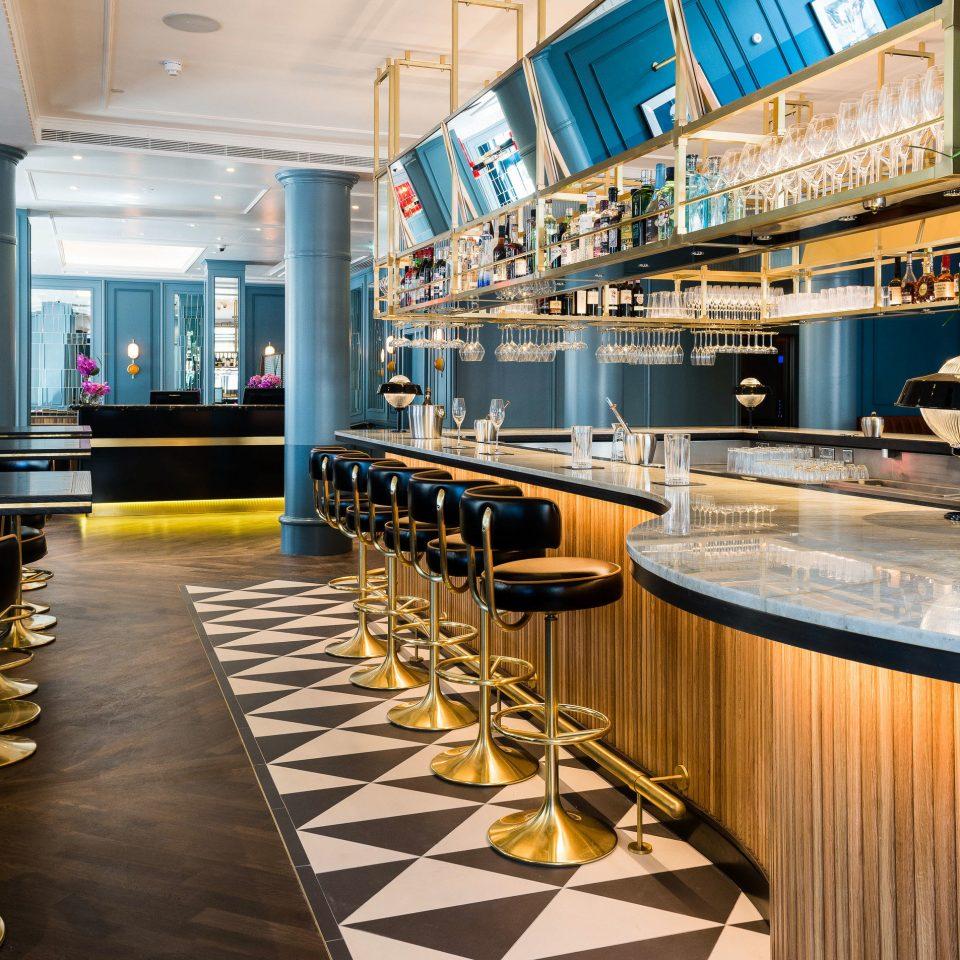 restaurant Lobby Bar flooring blue