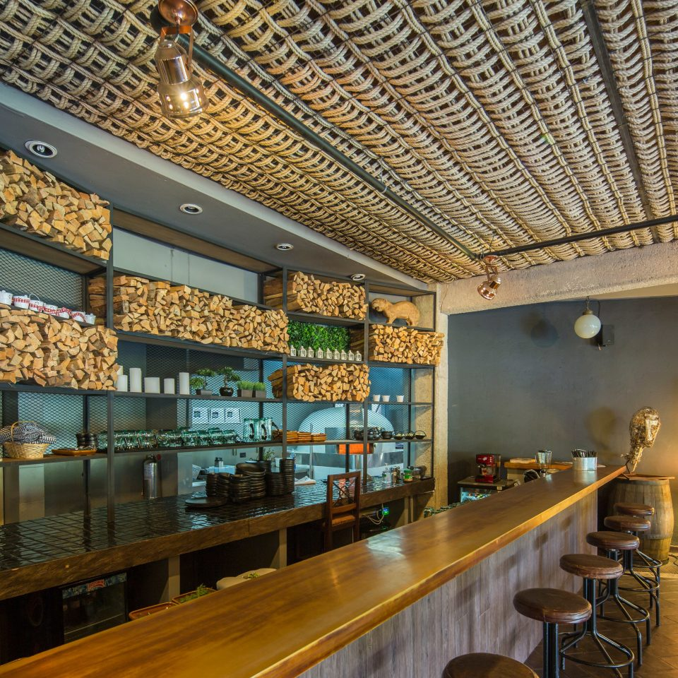 property building Lobby restaurant Bar counter long