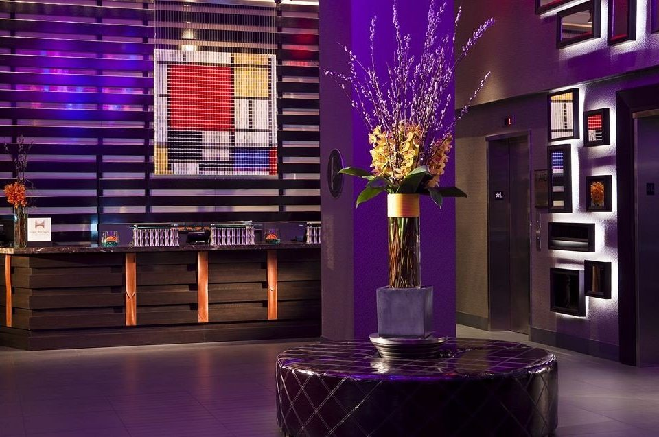 color purple Lobby stage lighting Bar