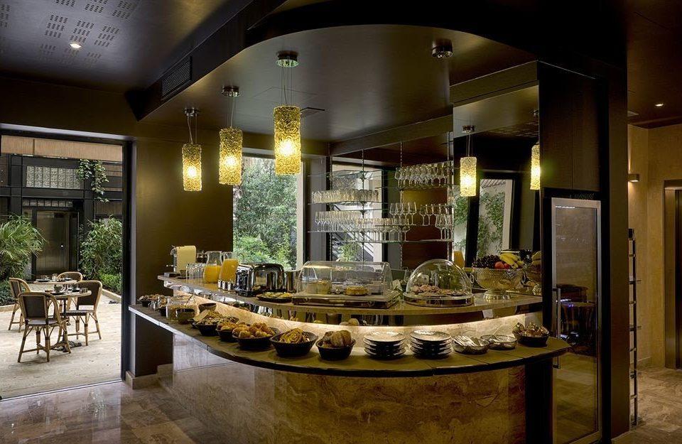 Lobby counter lighting restaurant Bar