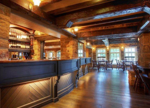 property wooden Lobby Bar mansion empty