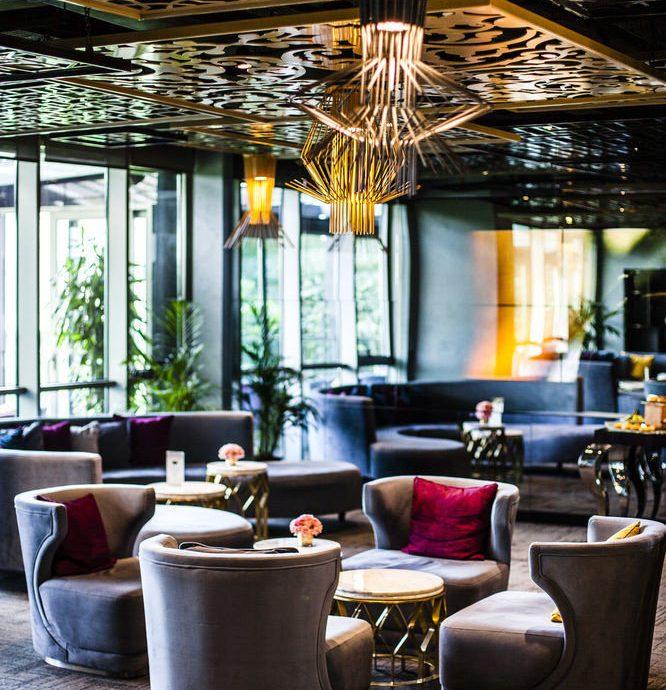 Lobby home restaurant living room Bar