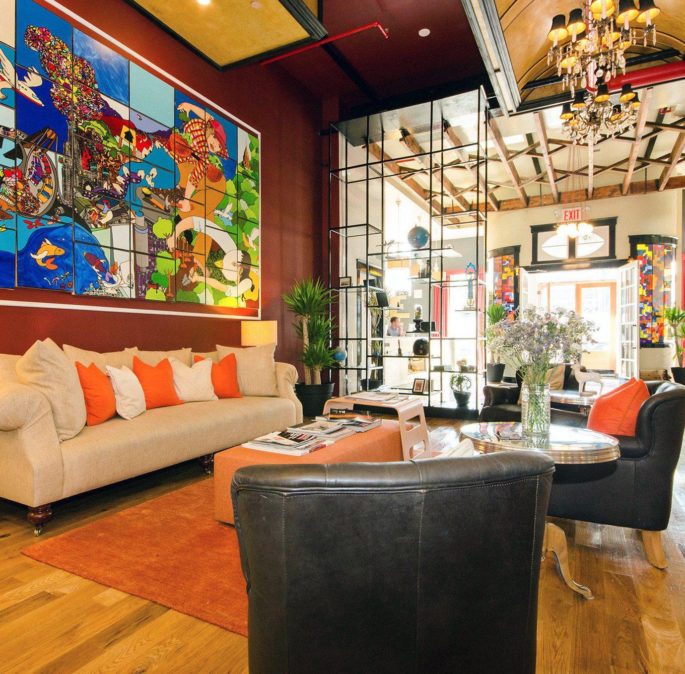 property Lobby living room restaurant home Bar orange