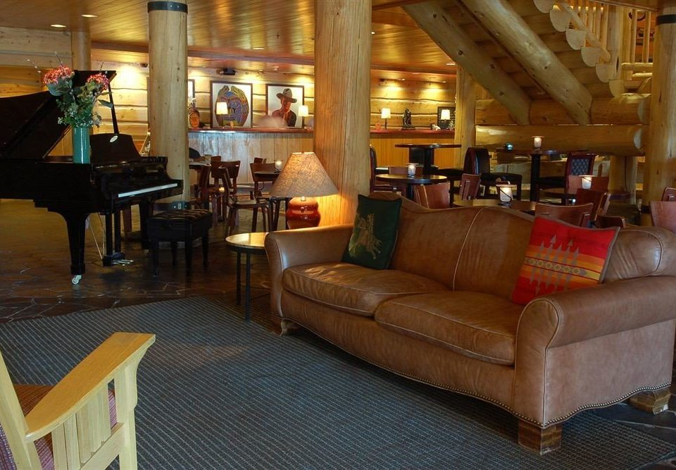 Lobby Lodge Lounge Rustic chair property living room restaurant Bar