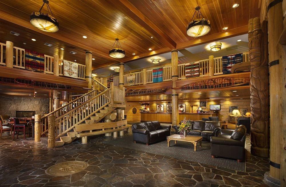 Lobby Lodge Lounge Rustic building Bar Winery restaurant