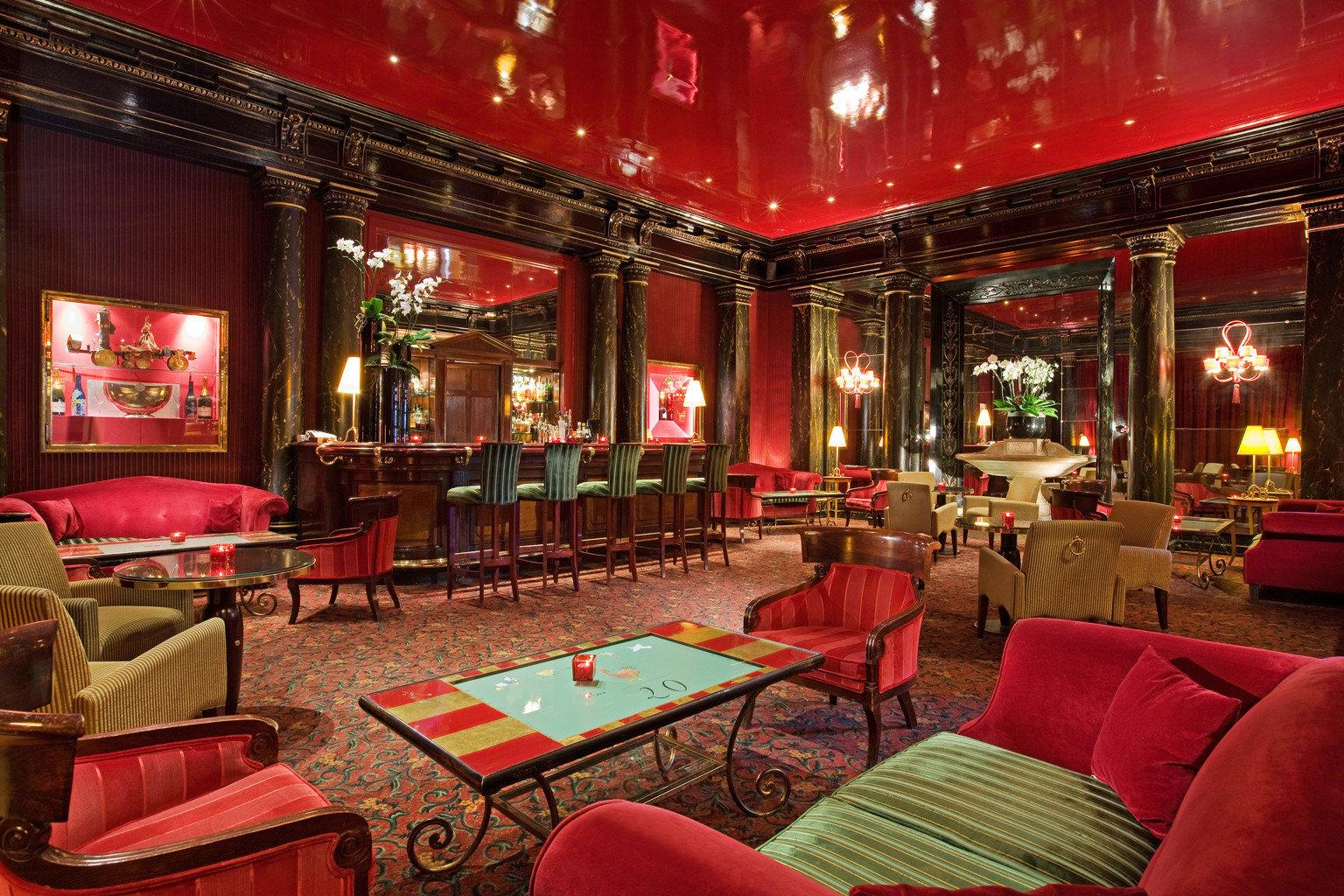 Lounge Luxury Modern red Lobby restaurant function hall recreation room Bar