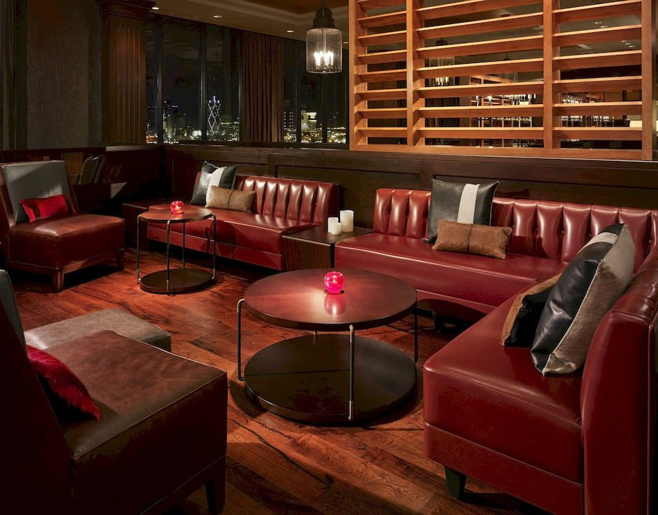 Lounge Modern sofa Lobby red recreation room conference hall restaurant auditorium living room Bar theatre function hall leather set