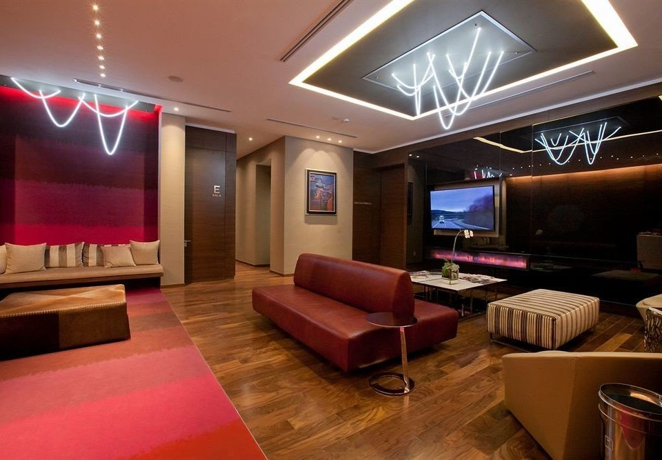 Lobby Lounge Modern Tropical recreation room billiard room function hall living room Bar