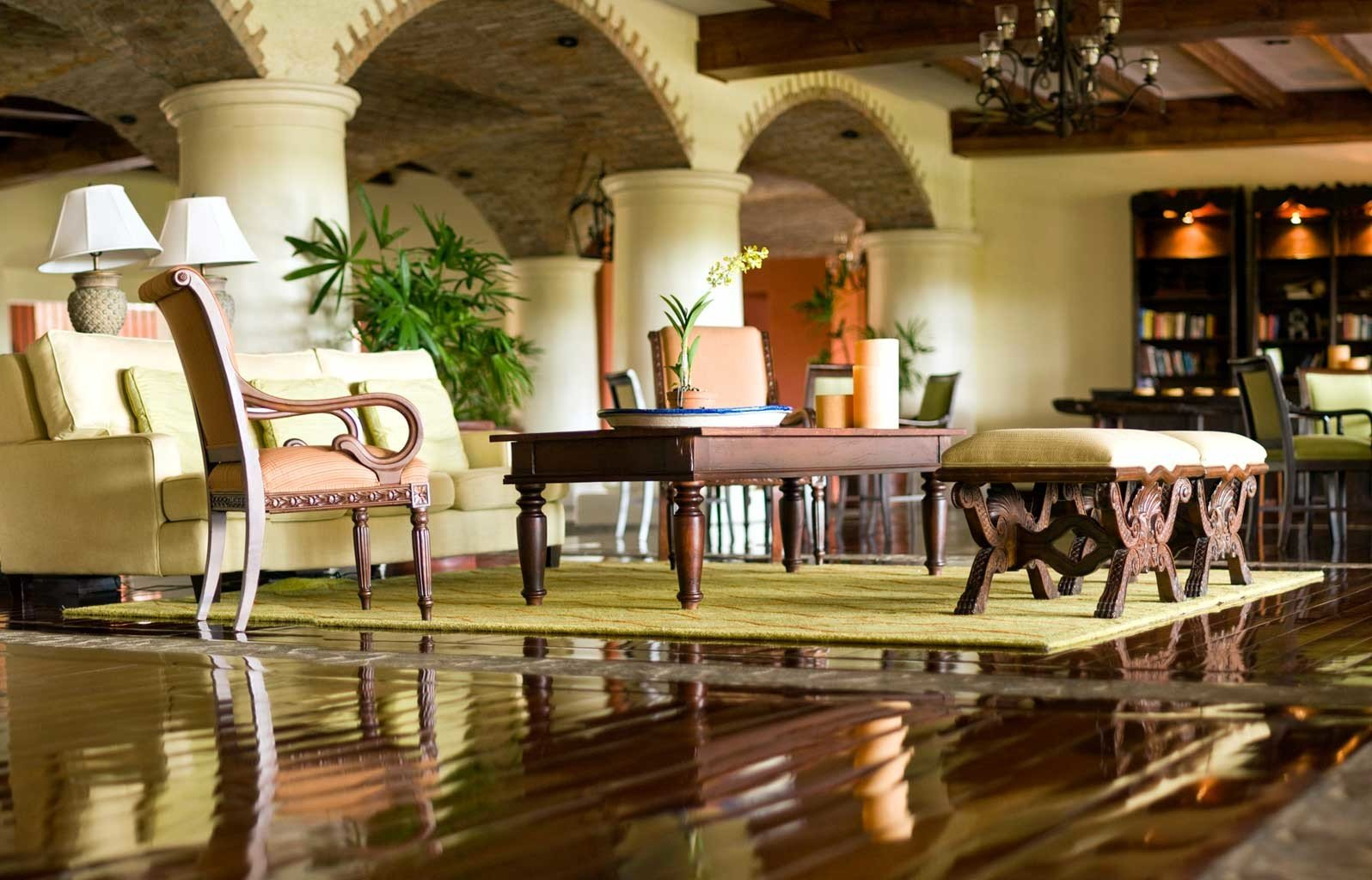 Lobby Lounge Modern Resort restaurant home function hall mansion Villa Bar