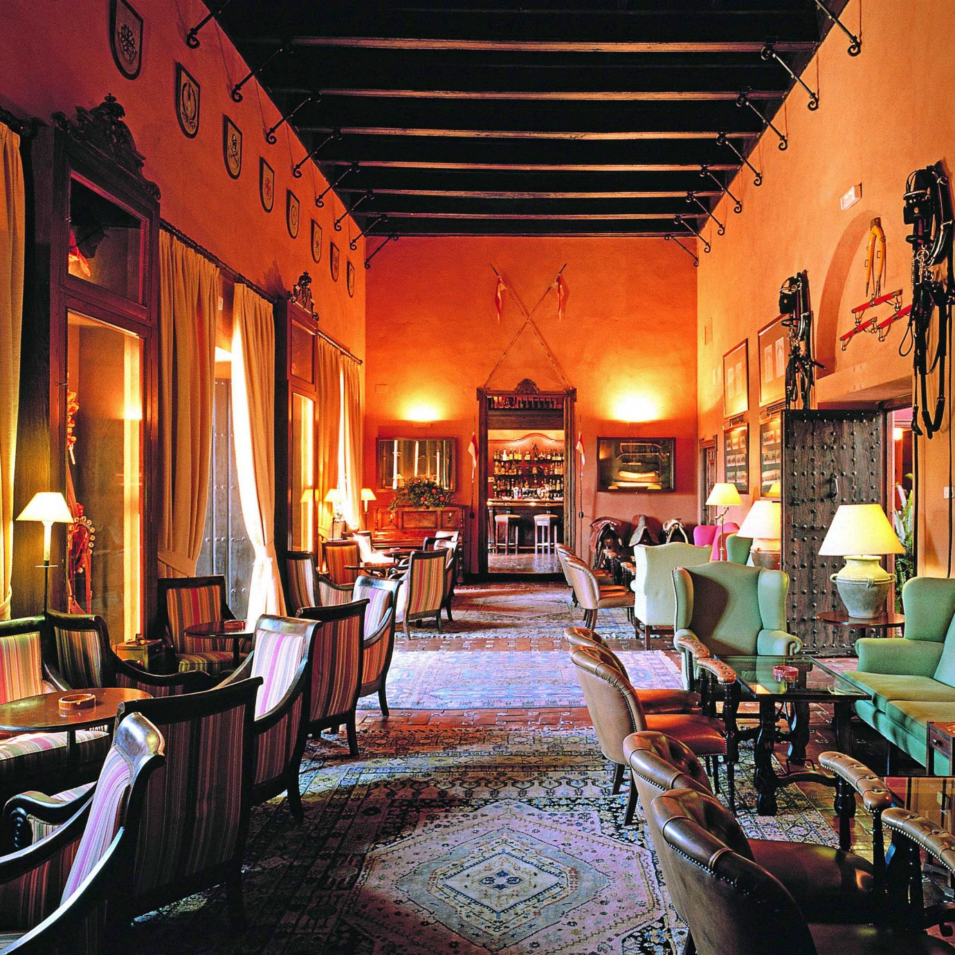 Lobby Lounge Romantic Rustic building restaurant home Resort Bar
