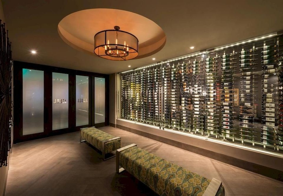 Lobby lighting living room condominium Bar Winery Modern