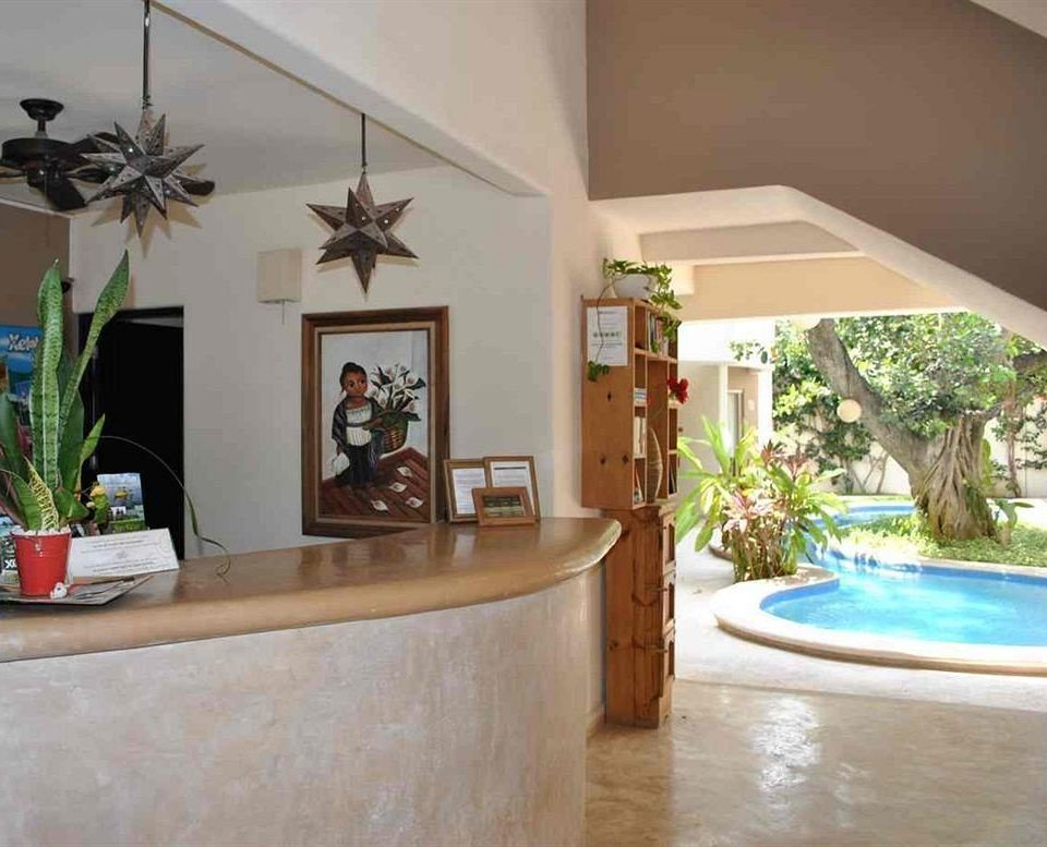 Bar Pool property home Villa living room Lobby hacienda mansion plant