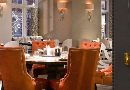chair living room Lobby restaurant home Bar Suite orange