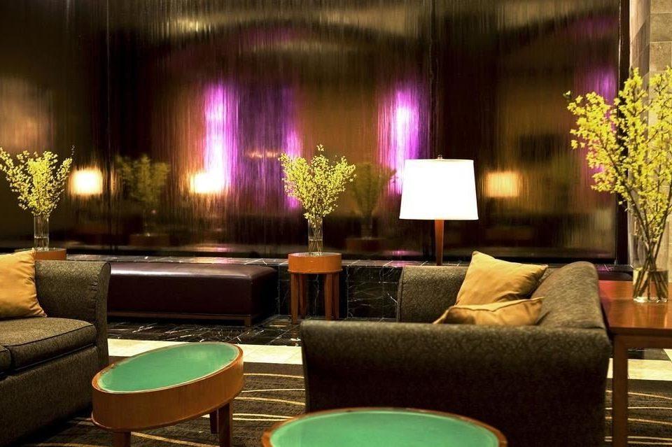 Lobby living room lighting restaurant Bar Suite set leather