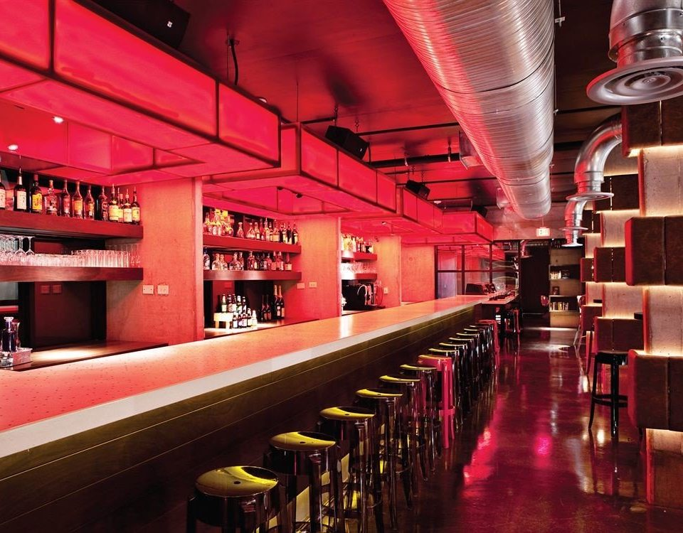 Bar Modern restaurant nightclub red