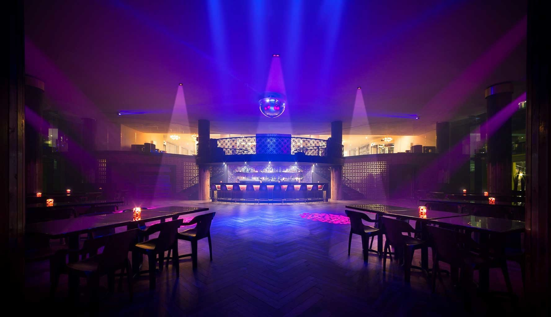 Bar Modern Nightlife Party Resort scene nightclub stage disco club music venue light musical theatre dark night