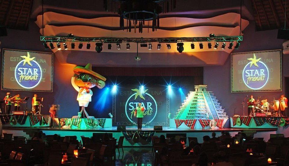 performance stage neon sign Bar nightclub