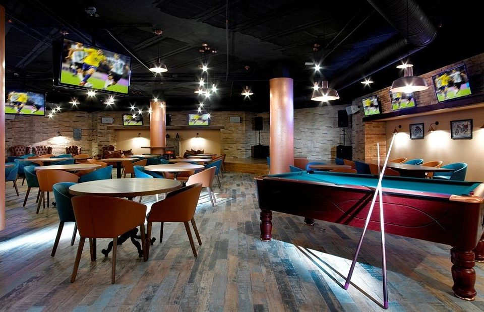 recreation room billiard room chair Bar indoor games and sports games billiard table Pool cue sports