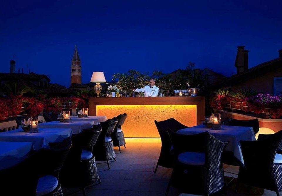 Resort restaurant night evening Bar blue dark