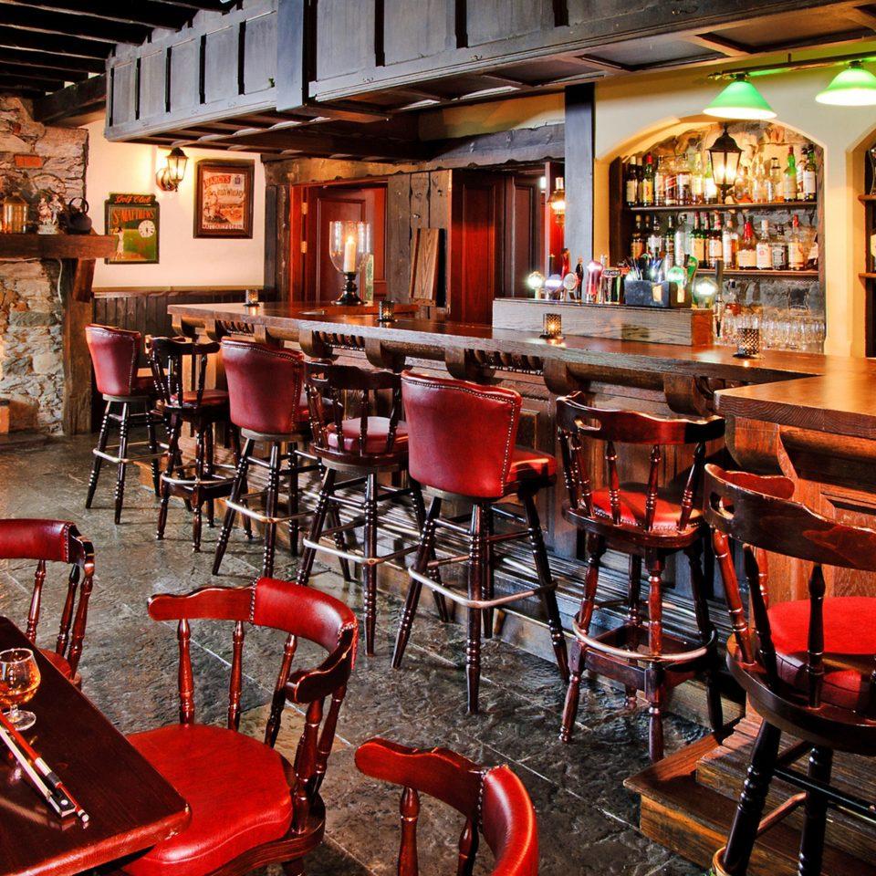Bar Rustic chair red restaurant café tavern recreation room coffeehouse orange