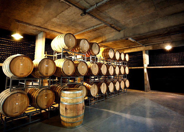 barrel man made object vessel basement Winery lighting wine Bar brewery restaurant cooking