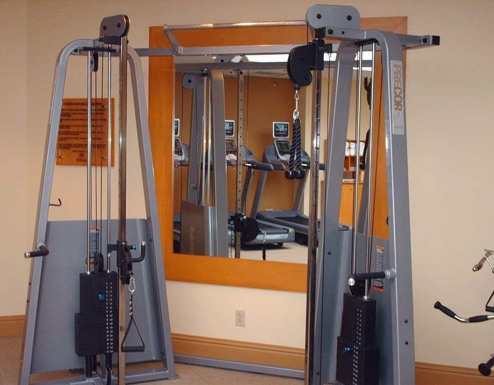 structure gym sport venue exercise machine exercise equipment barbell physical fitness