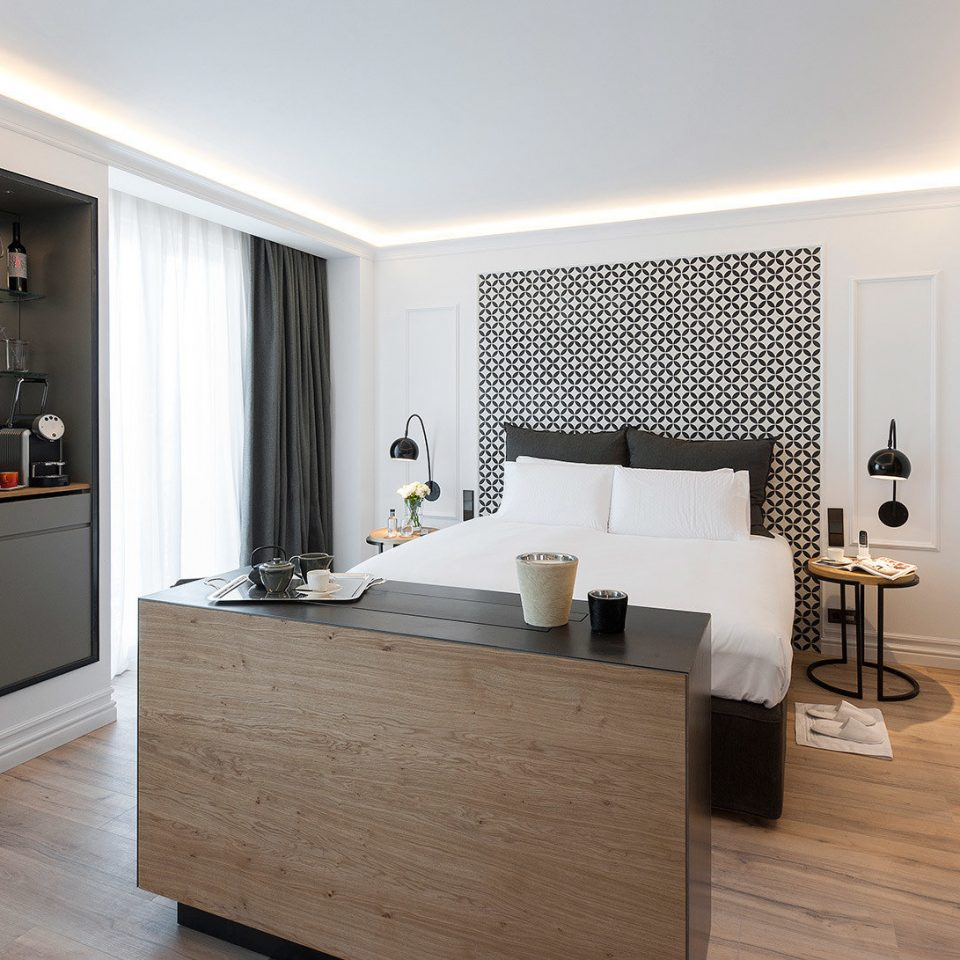 Barcelona Bath Bedroom Boutique Hotels Luxury Modern Spain property bathroom home flooring Suite cabinetry wood flooring