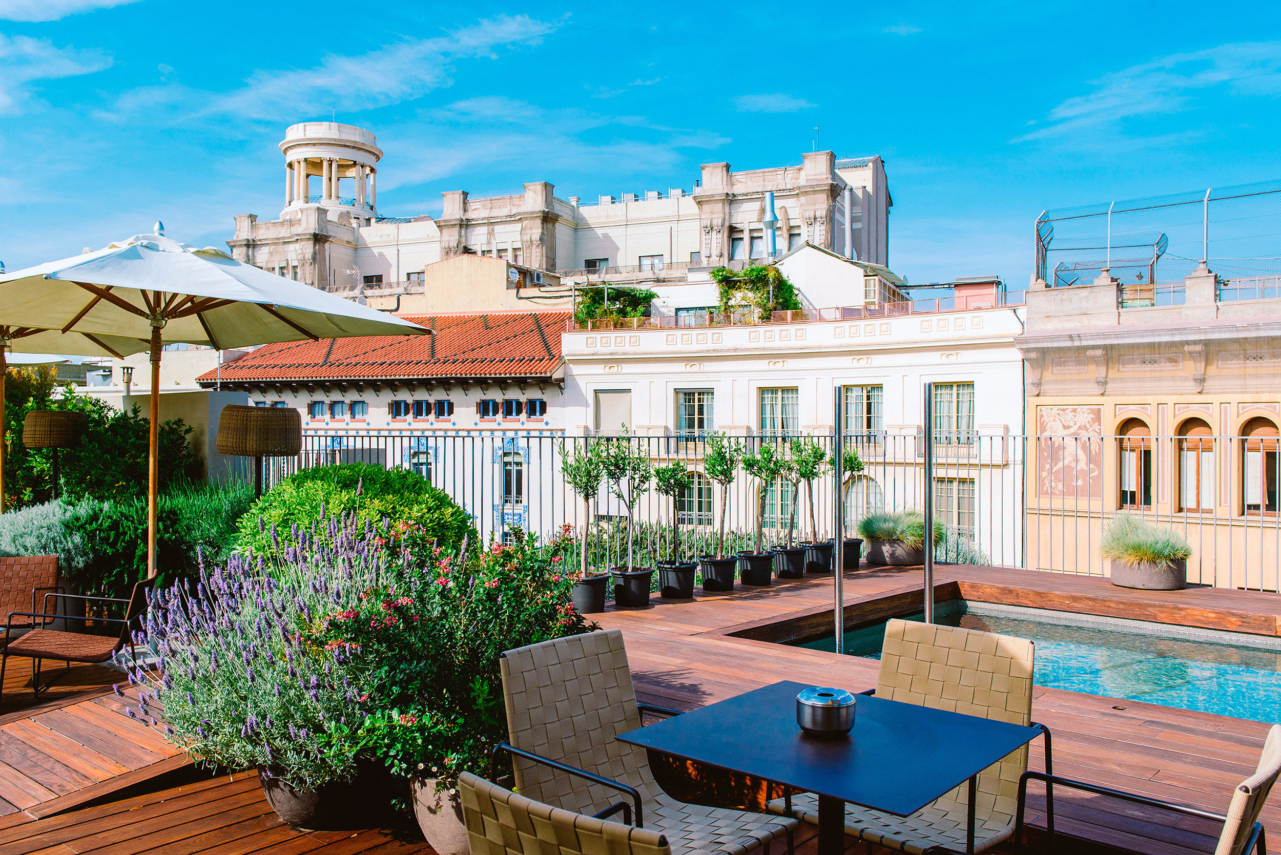 Barcelona Boutique Boutique Hotels City Deck Hip Hotels Luxury Modern Pool Rooftop Spain sky property Resort building home swimming pool palace Villa mansion condominium walkway hacienda plaza outdoor structure Garden stone