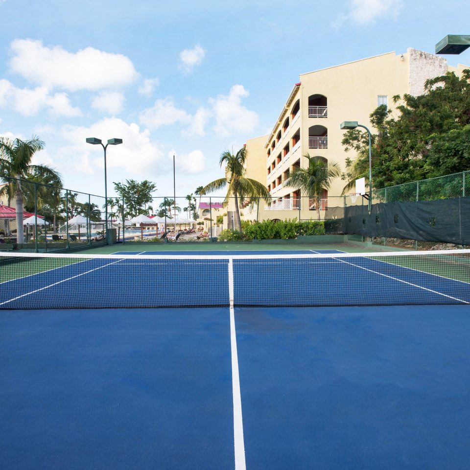 sky water structure tennis tennis court sport venue scene sports racquet sport baseball park luxury vehicle way road stadium blue