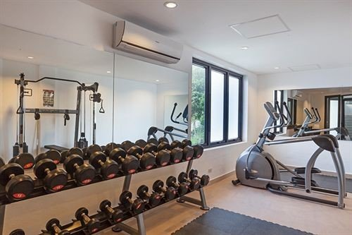 structure property gym sport venue physical fitness condominium basement