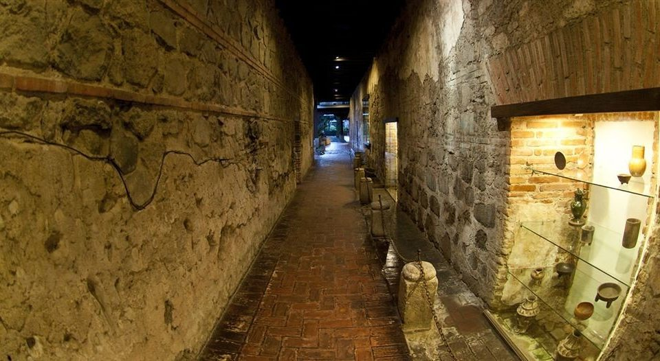 stone alley road dirty tunnel ancient history infrastructure street brick waterway old basement tile tiled Bath