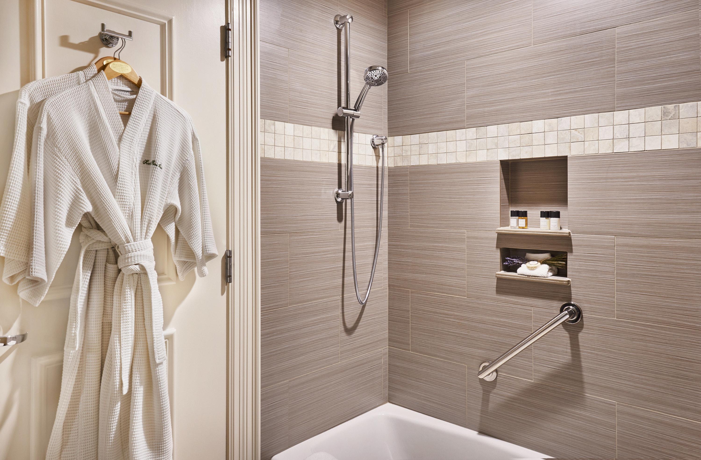 bathroom plumbing fixture tile towel flooring shower angle clothes hanger Bath rack tiled