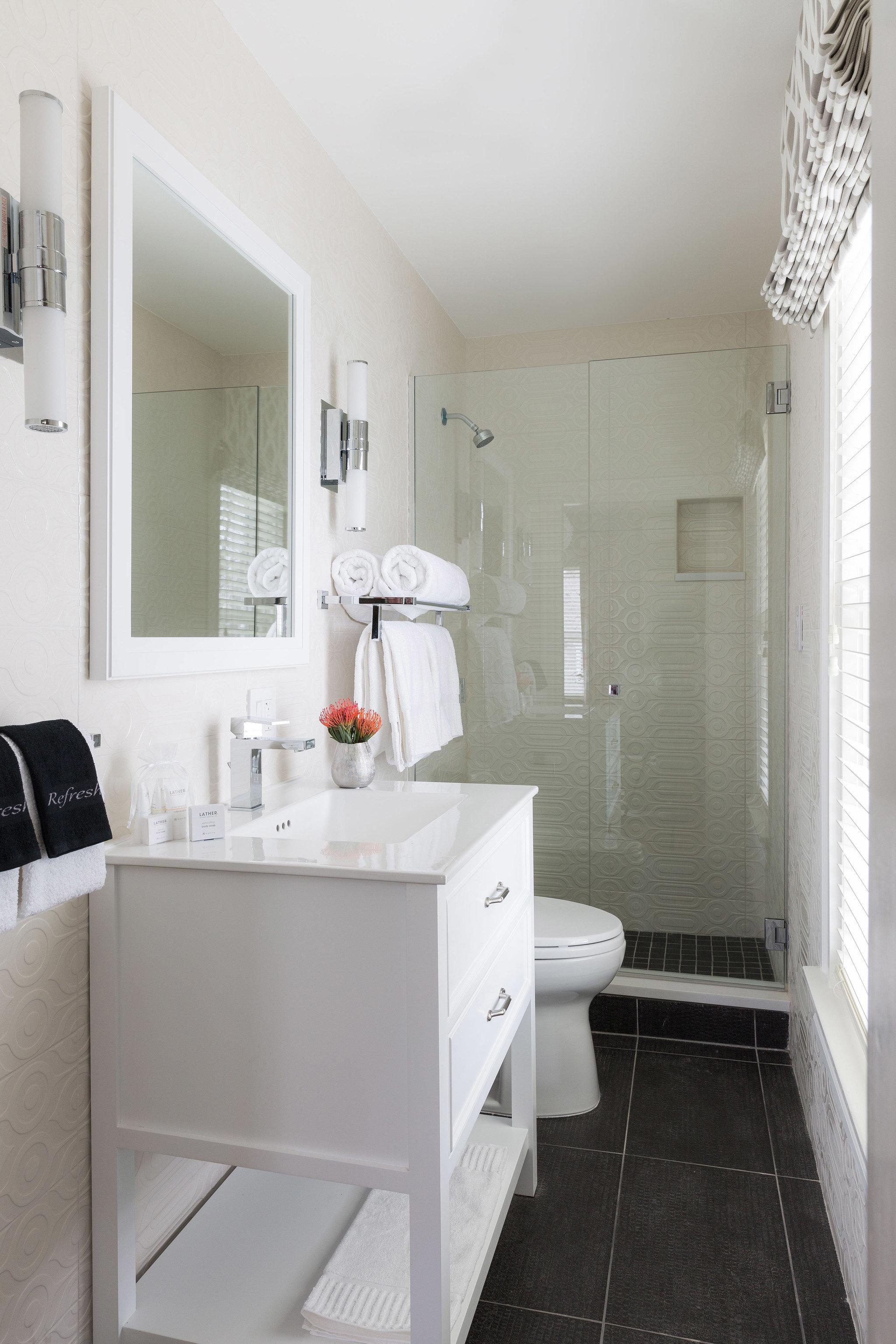bathroom white property toilet home plumbing fixture bidet flooring sink bathroom cabinet cottage tiled tile Bath