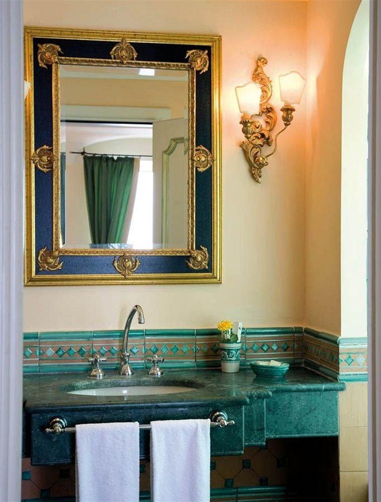 bathroom mirror sink blue home bathroom cabinet cabinetry plumbing fixture Bath tub painted tile tiled painting