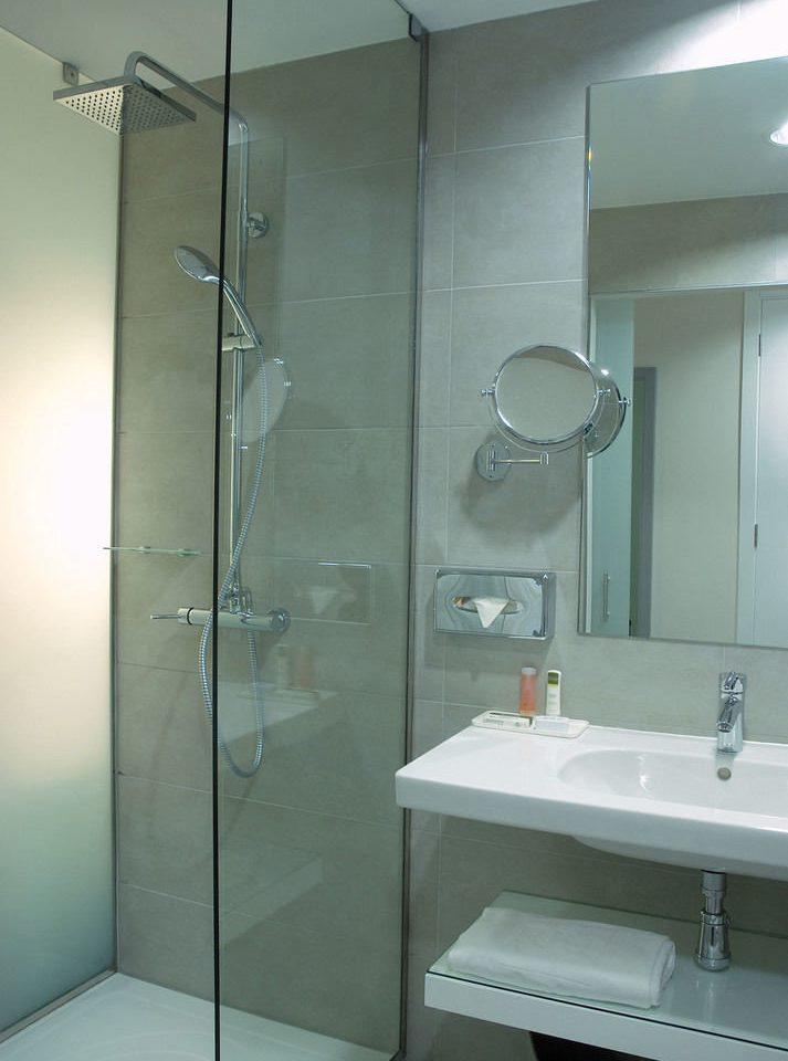 bathroom mirror sink shower plumbing fixture glass bathroom cabinet Bath tiled