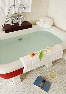 bathroom swimming pool bathtub product towel sink plumbing fixture flooring jacuzzi bed sheet tiled Bath