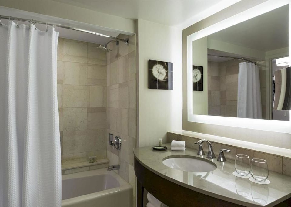 bathroom mirror sink property curtain shower home white plumbing fixture toilet tub clean tile bathtub Bath