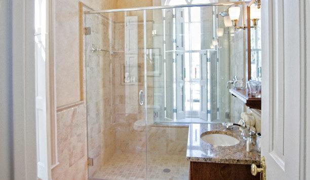 bathroom property home scene shower plumbing fixture tub sink white door glass tile curtain flooring product bathtub tiled Bath