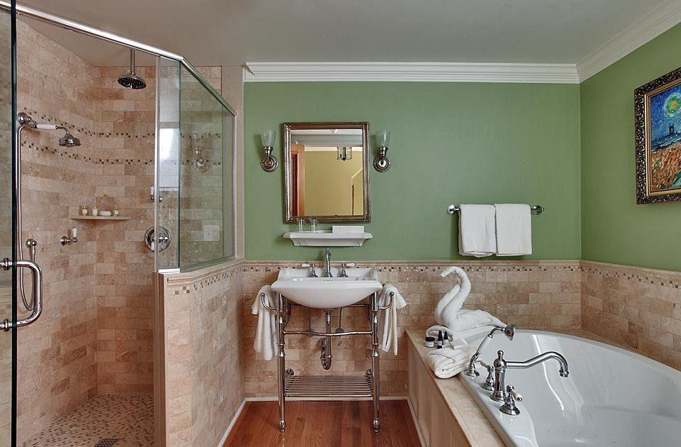 bathroom sink mirror property home scene house flooring tub Bath bathtub