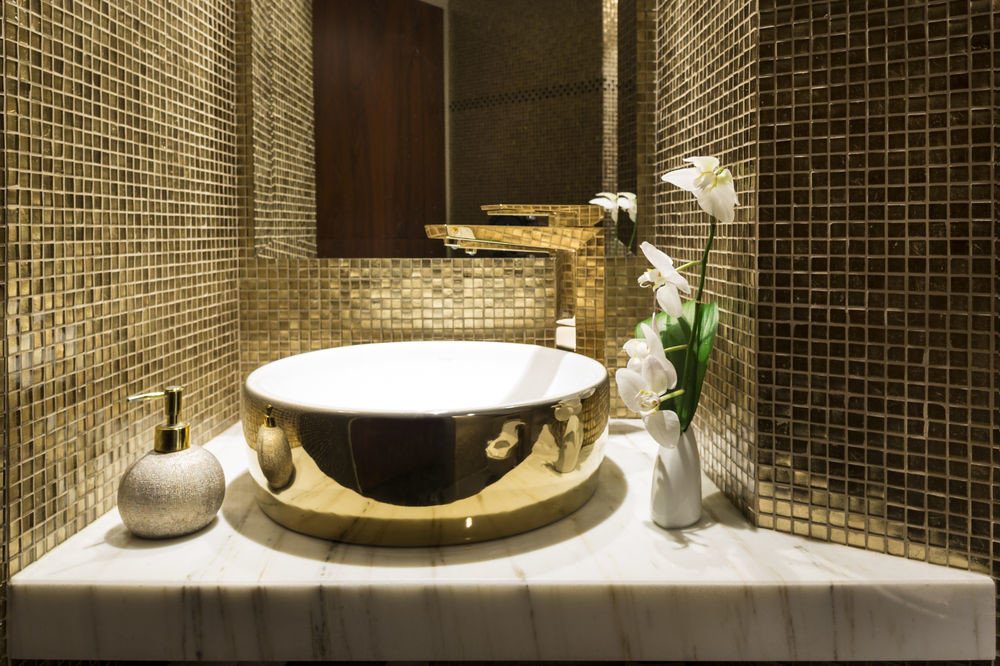 bathroom plumbing fixture sink bathtub flooring tile tiled Bath
